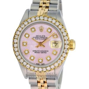 Rolex Lady Datejust Pink MOP Diamond Dial 26mm